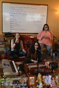 That's ME & vocalist Karishma rehearsing with Radha for The Bhakti Caravan.