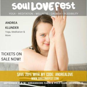 Andrea Klunder SoulLove Fest Chicago Yoga
